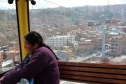 Local woman in Teleferico