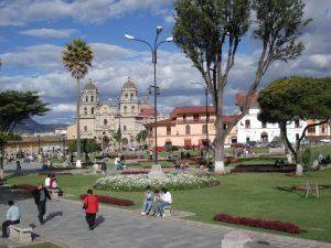 Plaza de Armas in Cajamarca