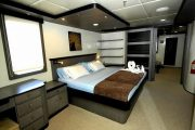 Master suite on Treasure Yacht