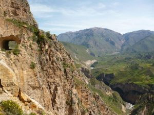 Tunnel on Colca Canyon road