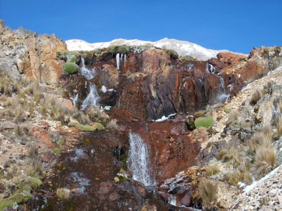 Waterfall on Huayhuas Trek