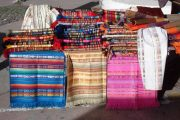 Buying souvenirs at Otavalo market