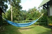Hammock in garden of Lodge