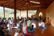 Yoga and meditation class at Izhcayluma