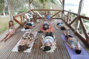 Yoga class at El Acantilado