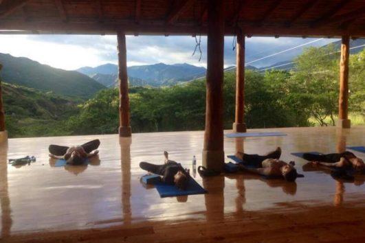 Yoga class at Izhcayluma