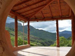 View from Izhcayluma Yoga Shala