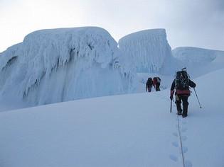 Climbing Cayambe Mountain Ecuador