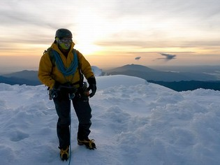 Cayambe Mountain summit Ecuador