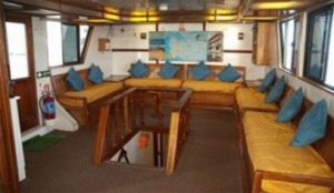 Lounge on Galapagos yacht
