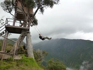 Casa del Arbol Baños Ecuador reis