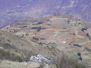 Wandelen in Andesgeberte van Sucre Bolivia