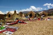 Tour to floating Uros reed islands