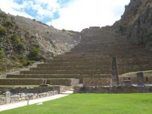 Ollantaytambo in Sagred Valley of Peru