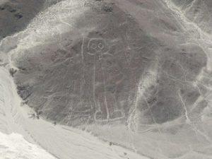 Astronaut vlucht Nazca Lines
