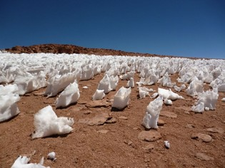 Ice on Salar tour Bolivia