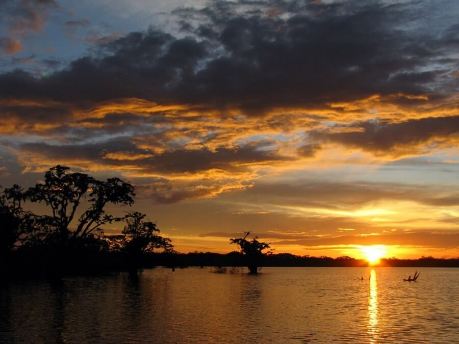 Sunset over Laguna Grande