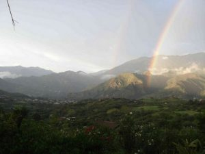 Rainbow view in Vilcabamba