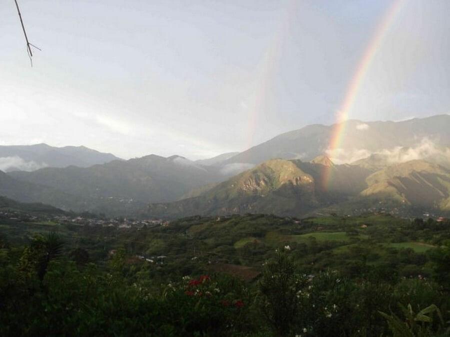 Regenboog in Vilcabamba