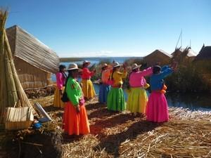 Uros rieteilanden Titikaka cultuur