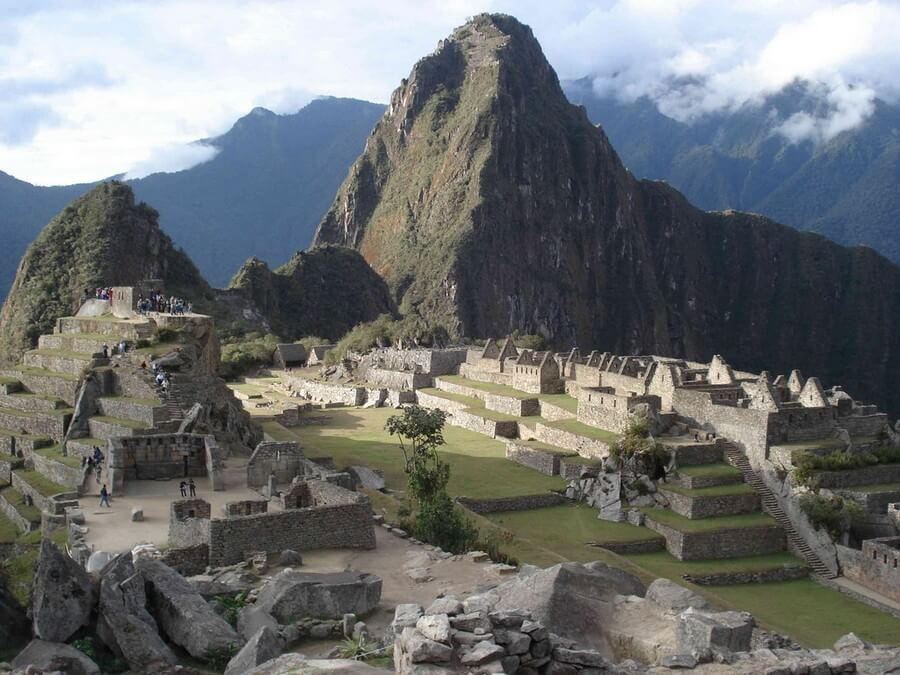 View of Machu Picchu center