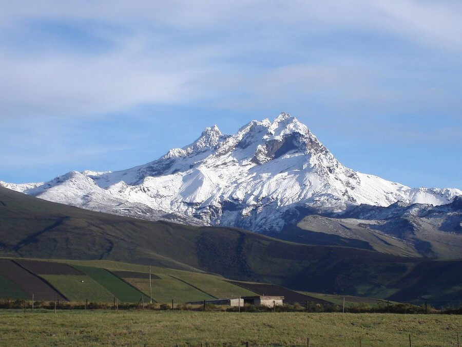 View of Carihuairazo Mountain