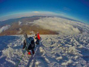 Descending Chimborazo Volcano
