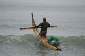 Fisherman in Caballito de Totora