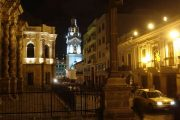 City tour in Quito at night
