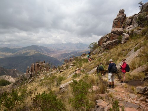Treks in the mountains of Sucre, Bolivia