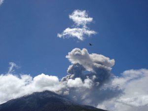 Tungurahua, active volcano in Ecuador