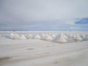 Drying salt, Salar de Uyuni Bolivia