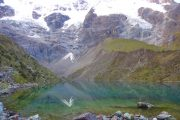 Lake on Salkantay Trek