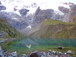 Lake on Salkantay Trek Peru