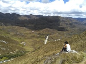 Woman in Cajas, Ecuador