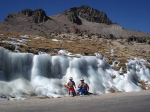 Ice during Colca Canyon tour