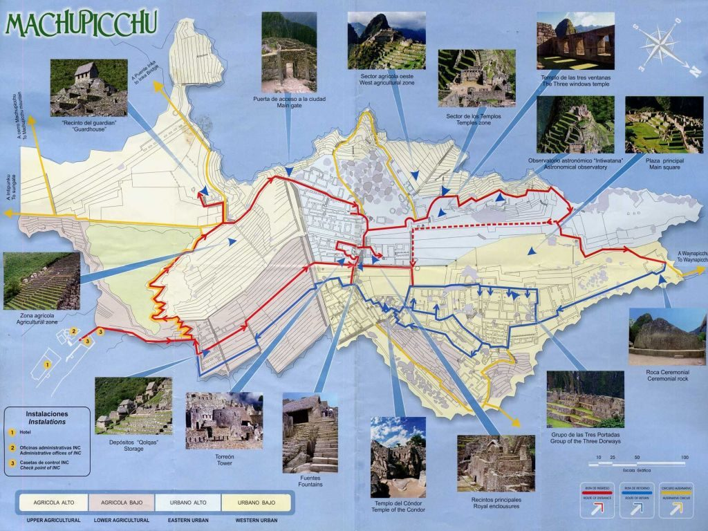 Machu Picchu walking routes
