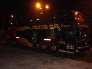 Cruz del Sur bus travel Peru