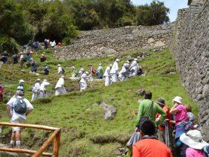 Massa toerisme Machu Picchu Peru