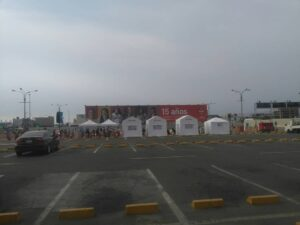 Corona Covid-19 test tents in Lima